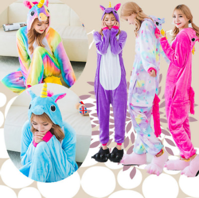 AU29.99 • Buy Cartoon Unicorn Onesie10 Sleepwear Unisex Animal Costume Cosplay Pyjamas Women+1