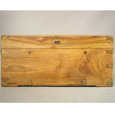 Antique Camphorwood Campaign Chest (delivery Available) Box / Coffee Table • 750£