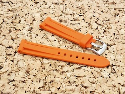 Zuludiver 20mm Orange EPDM Rubber Italian Diver Watch Strap   • 7.99£