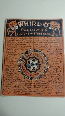 $ CDN39.42 • Buy Whirl-O Halloween Fortune And Stunt Game Vintage USA Genuine Decoration FreeShip