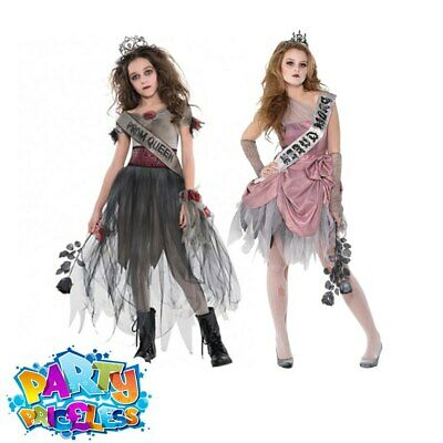 Kids Girls Zombie Bride Prom Queen Costume Halloween Fancy Dress Outfit  • 19.29£