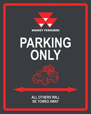 £6.99 • Buy Massey Ferguson Parking Only Farm Tractor Farmer Country Metal Sign Plaque 675