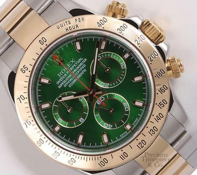 $ CDN23163.20 • Buy Rolex Daytona 116523 18k Two Tone 40mm Watch-New Style Green Dial-18k Gold Bezel