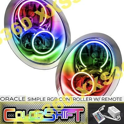 AU1143.77 • Buy ORACLE Halo HEADLIGHTS For Mini Cooper/S 05-08 COLORSHIFT LED Simple W/ Remote