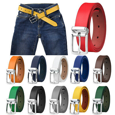 $11.99 • Buy Falari Kids Leather Belts For Boys 1  Trim To Fit - One Piece Leather Cutting