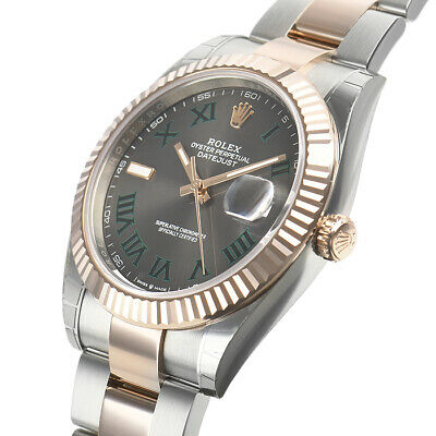 $ CDN17876.17 • Buy Rolex Datejust 41mm 126331 Steel Everose Gold Oyster Green Roman Dial Watch