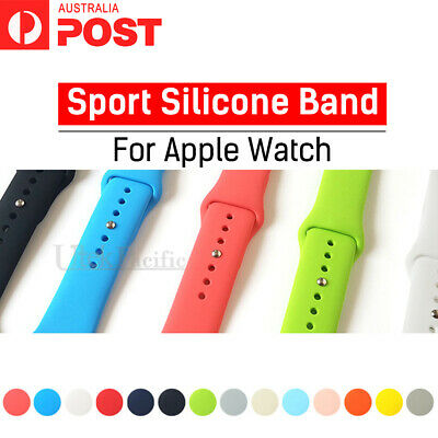 AU6.95 • Buy For Apple Watch Series 5/4/3/2/1 Sports Silicone Bracelet Strap Band 38/42/40/44