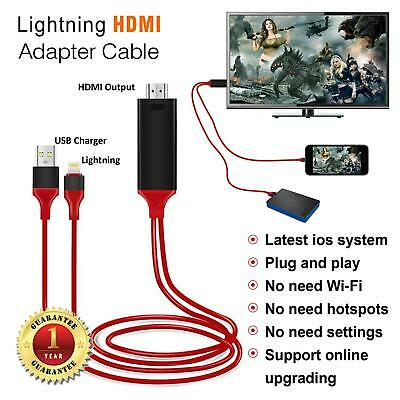 AU11.19 • Buy Lightning To HDMI Cable 8 Pin Digital TV AV Adapter USB Charger For IPhone IPad