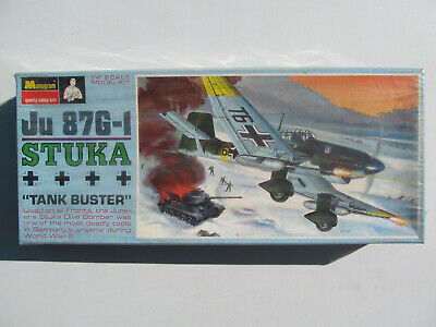 $24.99 • Buy 1968 MONOGRAM Ju 87G-1 Stuka  Tank Buster  Complete SEALED 1/48th Model Kit