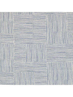 John Lewis Furnishing Fabric 'CLEY' Blue, Sold By The Metre X 103cm Width • 7.50£