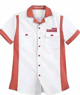 $29.99 • Buy Disney Store Toy Story 4 DUKE CABOOM Mens Button Costume Bowling Shirt Small S
