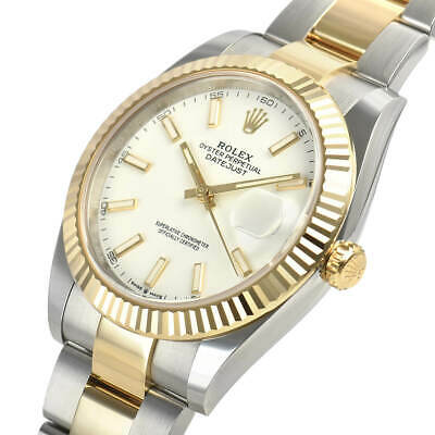 $ CDN16553.37 • Buy Rolex Datejust 41mm 126333 Steel Yellow Gold Oyster White Index Dial Watch Auto