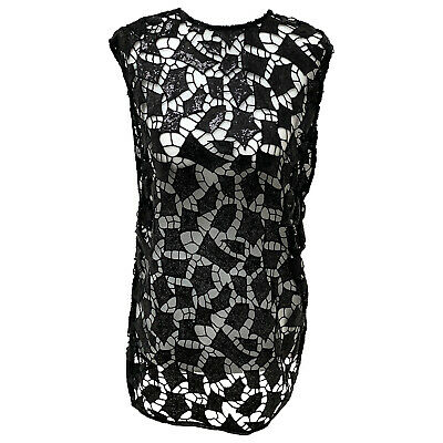$ CDN210.40 • Buy IRO Black Crochet Sequin Sleeveless Tunic Top Size EU 34 Originally $360