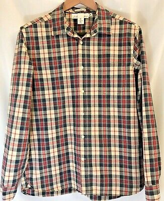 Label Of Graded Goods H&M Fitted Long Sleeve Button Shirt Plaid Mens Large LOGG • 6.99$