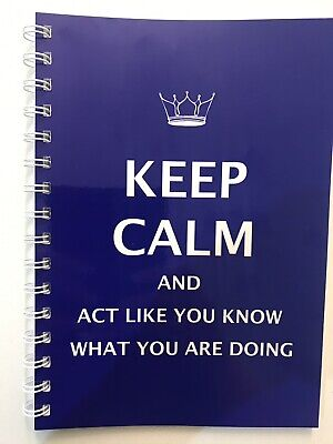 AU12.95 • Buy 2022 Year Diary Blue Keep Calm And Act QUOTE A5 Week To Page