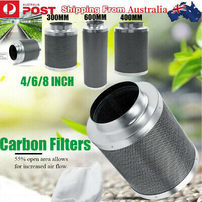 AU58.99 • Buy Stainless Hydroponic Activated Carbon Filter Smoke Smell Adsorption Tool 4/6/8