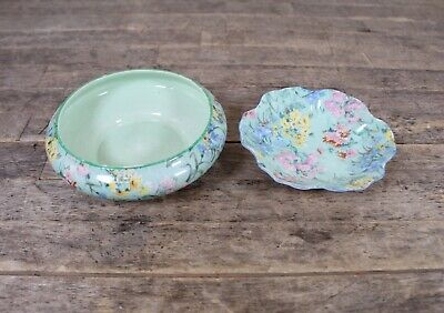 Vintage Shelley Melody Chintz Floral Design Miniature Trinket Bowl & Dish. • 24.99£