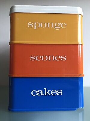 Tiered Storage Kitchen Cake Box Stacking Stewart Fiesta Nally Ware Vintage 1960s • 34.99£