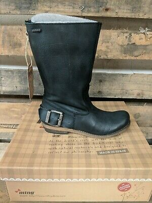 $25 • Buy MTNG Bill Negro Leather Boots. US Size 5.