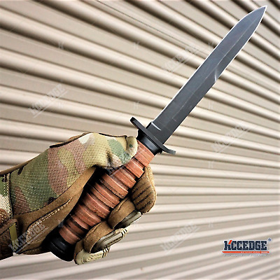 $29.64 • Buy 11 3/4  WWII M3 FIXED BLADE FIGHTING TRENCH KNIFE -No Bayonet- STACKED LEATHER