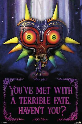 $11.99 • Buy Zelda-terrible Fate 24x36 Poster Decor Wall Art Gaming Fantasy Action Video Game