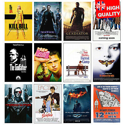 £4.99 • Buy Greatest Movie Posters Top 100 Classic Vintage Poster Prints   A4 A3 A2 A1  