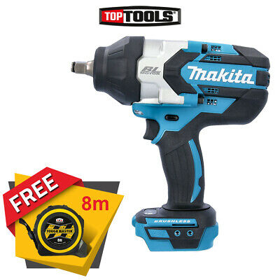 Makita DTW1002Z 18v Brushless 1/2In Impact Wrench With Free Tape Measures 8M • 219.90£