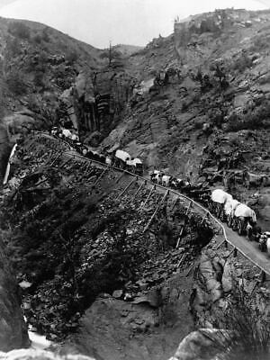 $ CDN18.91 • Buy G8834 Wagon Train On Mountain Pass Vintage Old Photo Laminated Poster UK