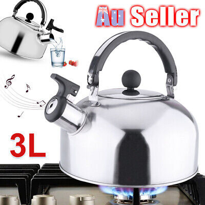 AU22.95 • Buy 4L Stove Top Camping Kettle Stainless Steel Picnic Whistling Teapot Kitchen ACB#