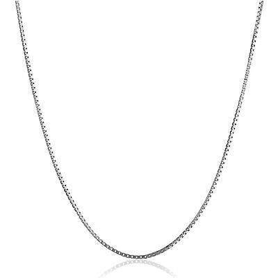 $112 • Buy Box Chain Necklace In 10K White Gold, 22