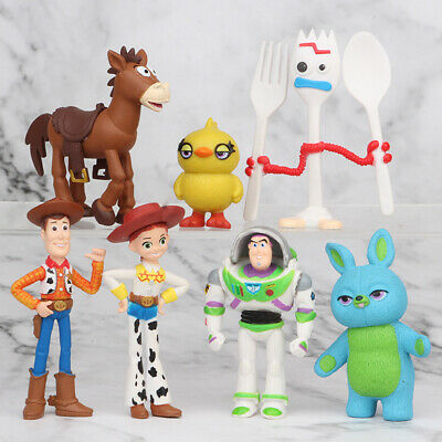 7 PCS Toy Story Bulleye Cake Topper Woody Action Figure Buzz Lightyear Kids Toys • 6.88£