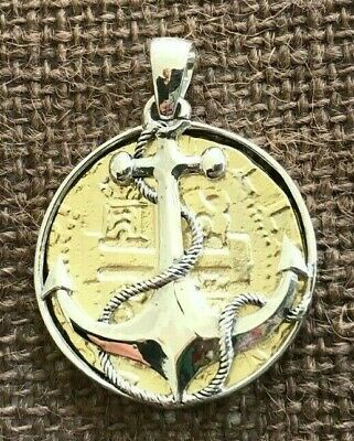 ATOCHA Coin Design Pendant 1600-1700  Gold  Coin Silver Anchor Treasure Jewelry • 115$