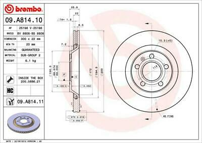 $90.53 • Buy 1x Bremsscheibe Brembo 09.a814.11