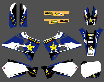$54.99 • Buy Team Graphics Backgrounds Decals Kit For Yamaha YZ125 YZ250 1996 97 98 99 00 01