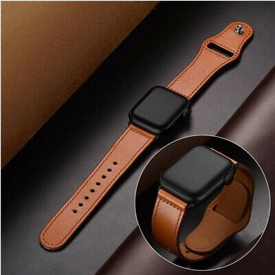 $ CDN10.60 • Buy 38/40/42/44 Mm Leather Band Strap Bracelet Watchband For Apple Watch Iwatch 5/4