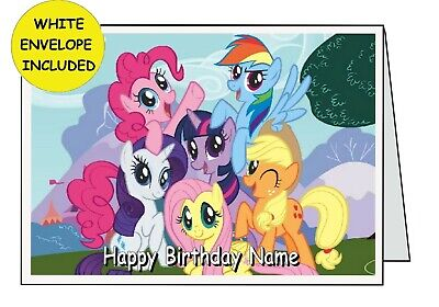 My Little Pony Personalised Inside Outside Handmade Card Birthday Anniversary Op • 2.99£