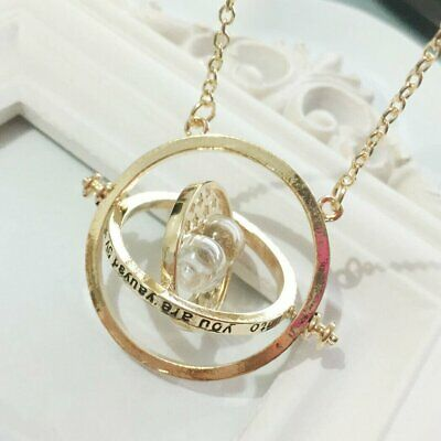 AU6.18 • Buy Harry Potter Hermione Granger Gold Tone Pendant Time Turner Hourglass Necklace