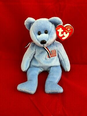 $430 • Buy RARE TY Beanie Baby America 911 Memorial Bear, September 11, 2001 Errors Retired