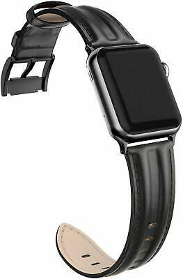 $ CDN22.63 • Buy Genuine Leather Band Compatible With Apple IWatch 38mm 40mm (Black)
