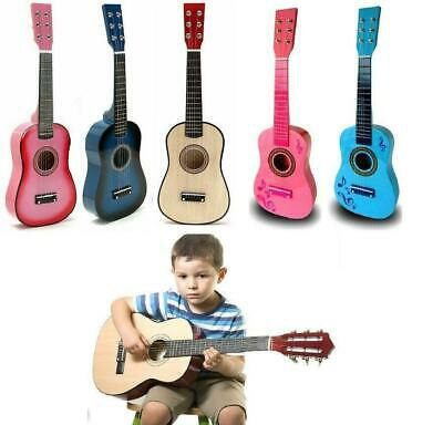 3  Children Kids Wooden Acoustic Guitar Musical Instrument Child Xmas Toy Pink • 13.69£