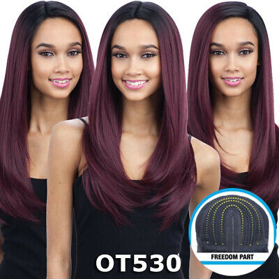 £42.97 • Buy Freedom Part 201 - Freetress Equal Synthetic Lace Front Long Straight Hair Wig