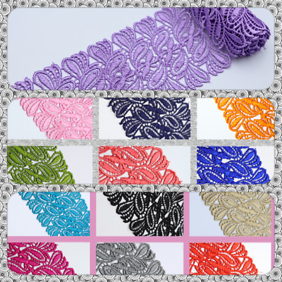 1 M 9Cm Brd Beautiful Daisy Lace Trim Colours Guipure Ideal Embellishing Sewing  • 3.99£