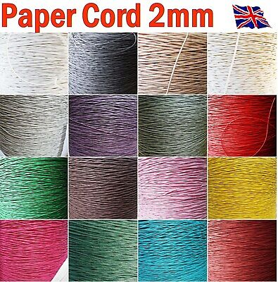 £1.99 • Buy Raffia Paper Cord 2mm Decorative Strong String DIY Craft Gift Packaging 10m, 50m
