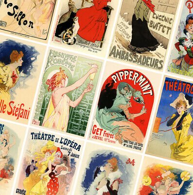 FRENCH VINTAGE ART POSTERS - A4 - A3 - A2 - Retro Prints - Home / Wall Art Decor • 3.49£