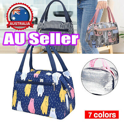 AU11.96 • Buy Cartoon Printed Lunch Bag Insulated Thermal Cool Bags Picnic Food Box Supply #T