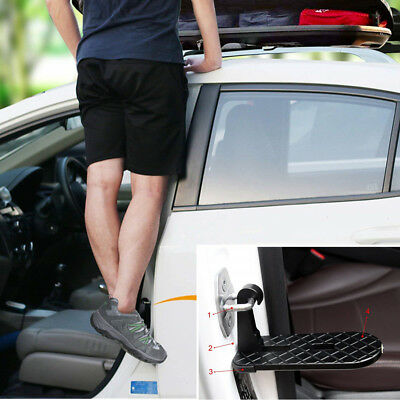 $ CDN10.38 • Buy Folding Car Door Latch Hook Step Mini Foot Pedal Ladder For Jeep SUV Truck Roof