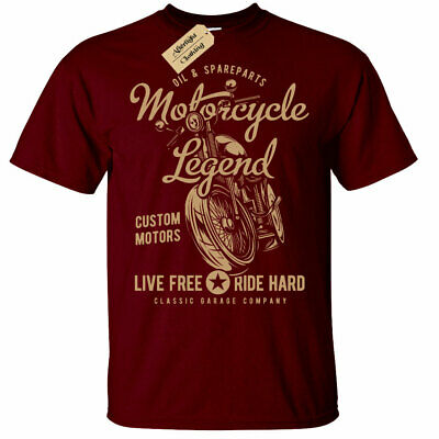 Motorcycle Legend T-Shirt Mens Biker Top Motorbike • 10.95£