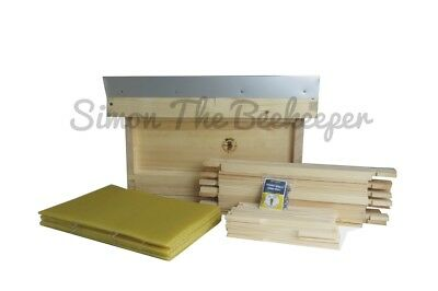 £114.99 • Buy British National Fully Assembled Wooden Bee Hive Inc Frames & Foundation