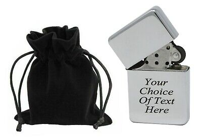 £3.99 • Buy Engraved Personalised Gift Chrome Lighter Star Ideal Wedding Present + Pouch