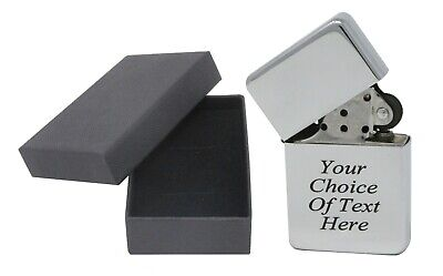 £4.39 • Buy Personalised Engraved Gift Lighter Anniversary Birthday Present With Gift Box